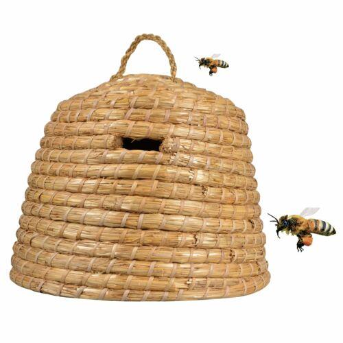 Esschert Design Bienenkorb Bienenstock Haus Imkerei Bedarf Insekten Stroh 40L