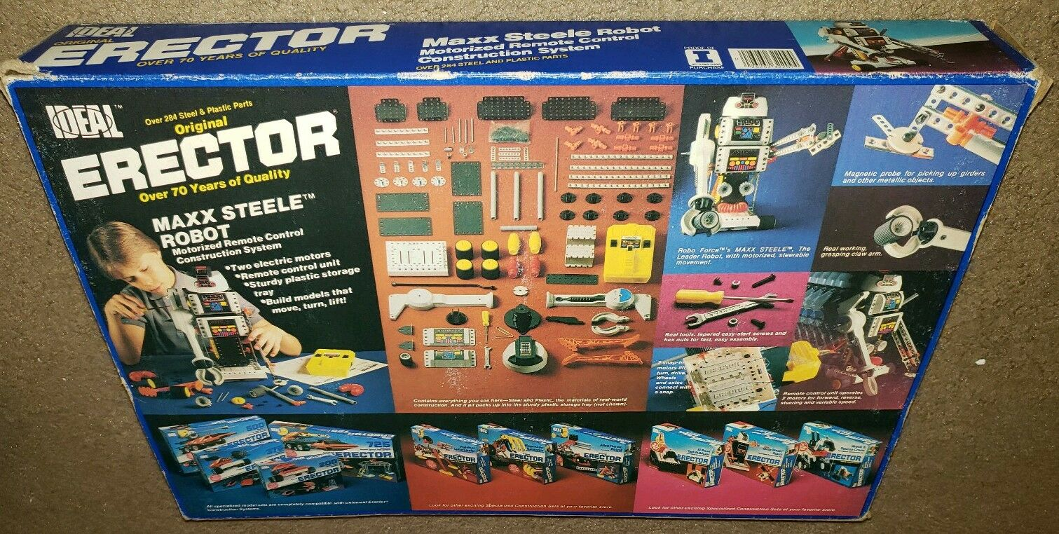 Vintage Maxx Steele Robot Erector Set Set Set 1984 Instructions Included Works  061769