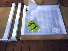 "NIB: Nice 36""x36"" White-Finish Aluminum PORCH RAILING GATE KIT w/ Mounting Posts"
