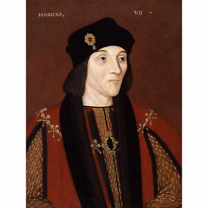 Portrait-King-Henry-VII-England-Painting-Royal-Historic-XL-Canvas-Art-Print