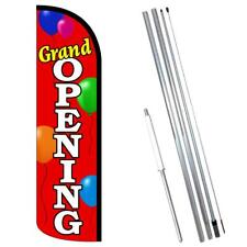 Grand Opening Balloons Premium Windless Style Feather Flag Bundle 14 Or Repla