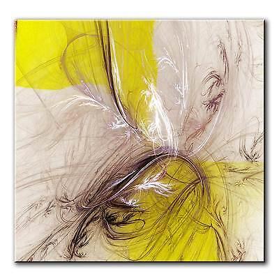 60x60cm PAUL SINUS ART Abstrakte Leinwand Bilder Fraktale Kunst Bild Farbe TOP