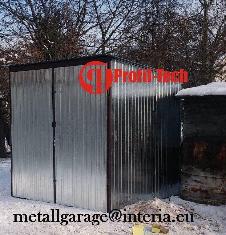 2,5x2,5 Blechgarage Fertiggarage Metallgarage LAGERRAUM GERÄTESCHUPPEN garage