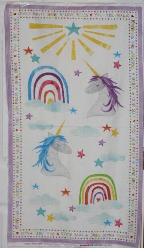 Unicorn Sparkle Magic Shine Panel /& Coordinating Fabric SOLD SEPARATEly