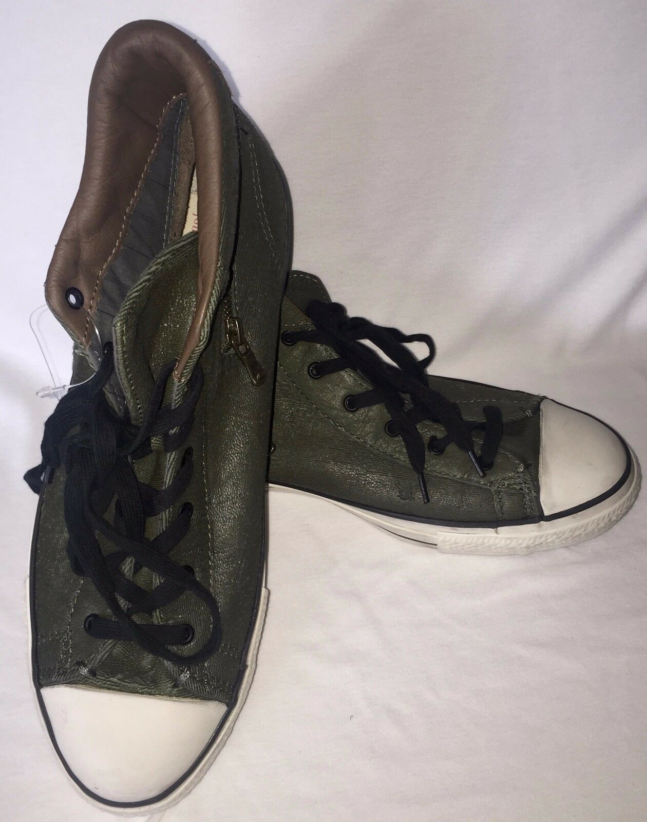 NWOB Men Green Converse Hi Top All Star Distressed look Sneakers 12 M  145380C