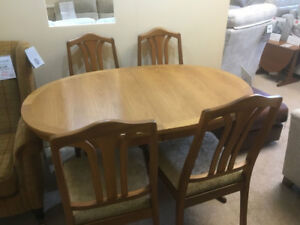 Nathan-Classic-Teak-Dining-Table-amp-4-Chairs-Brand-New-A1-perfedt
