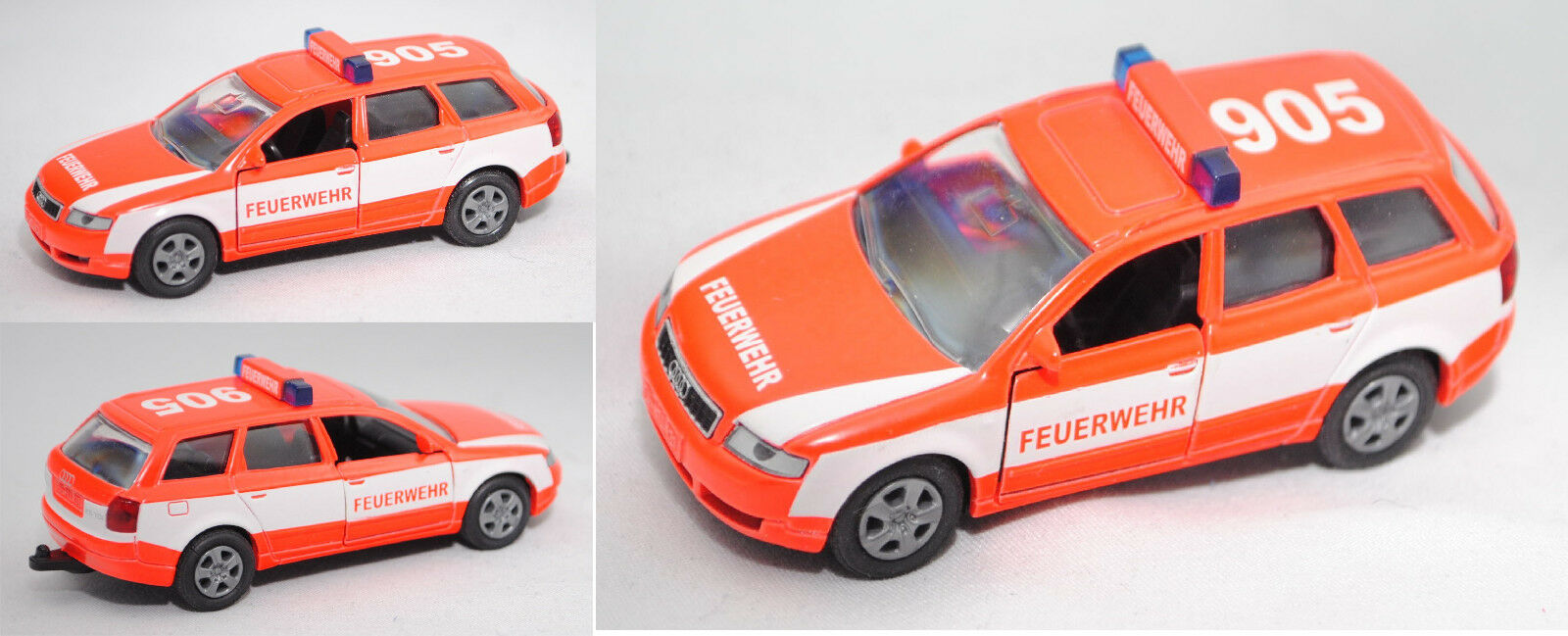 Siku Super 1053 00404 AUDI a4 Avant 2.5 TDI Quattro, Vigili del Fuoco, Modello speciale