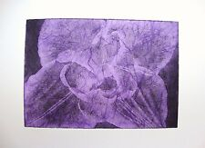 COMPOSTELLA TULIP LILAC-LIMITED EDITION SIGNED AQUATINT ETCHING by Studio Angela