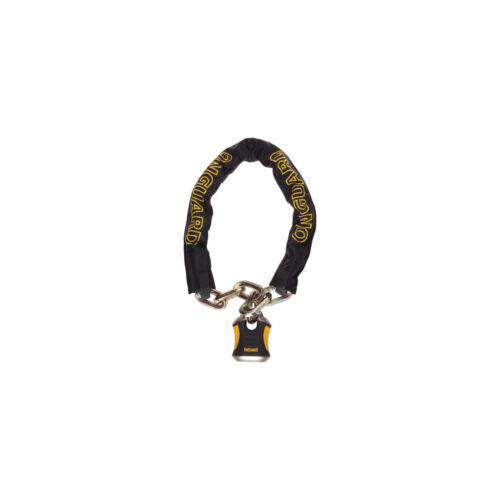 Black//Yellow OnGuard Beast Chain Lock with Keys 3.7/' x 12mm