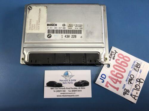 1998 BMW 740IL ENGINE CONTROL MODULE ECM ECU OEM PART #1430228