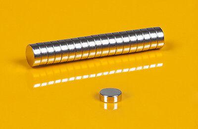 20 starke Neodym Magnete 6 x 2 mm runde Scheiben  N50  6x2mm