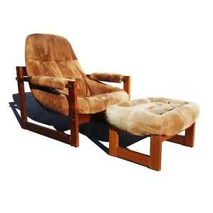 Astonishing Details About Brazilian Space Age Mid Century Modern Earth Lounge Chair And Ottoman By Perciva Ibusinesslaw Wood Chair Design Ideas Ibusinesslaworg