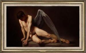 "Hand-painted Original Oil painting art Portrait male nude on Canvas 24""X40"""