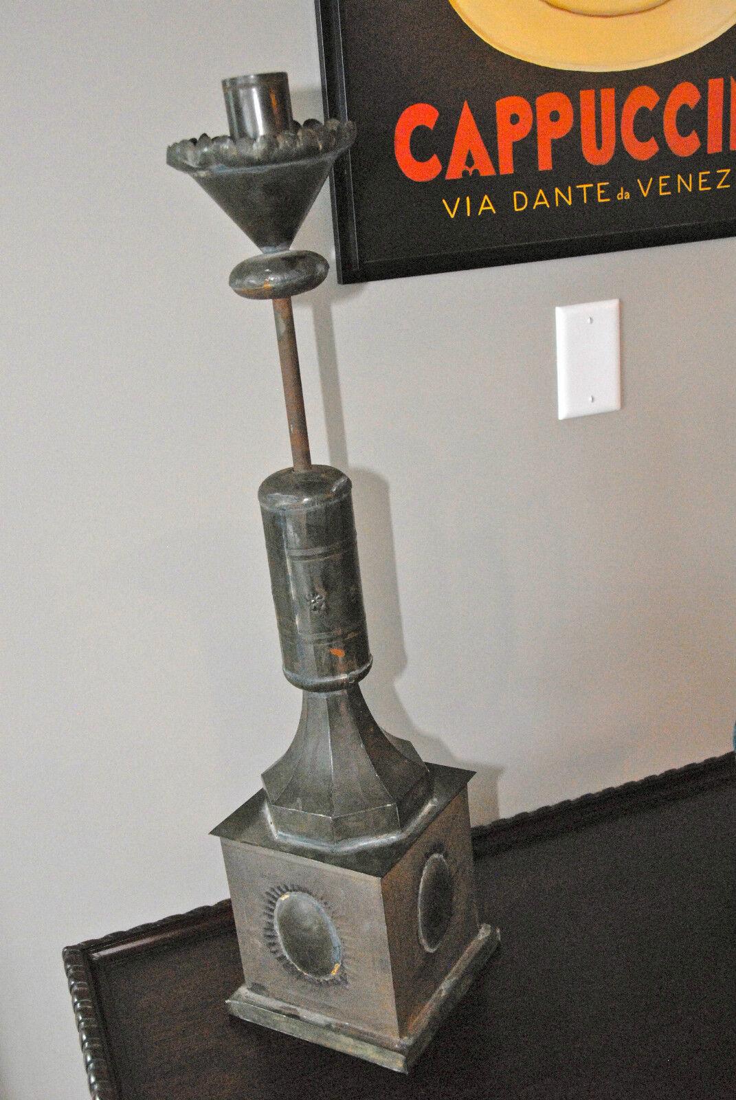 Titular de la vela del pilar soldada Metal un exquisitley Hecha a Mano Hogar 27  Steam Punk