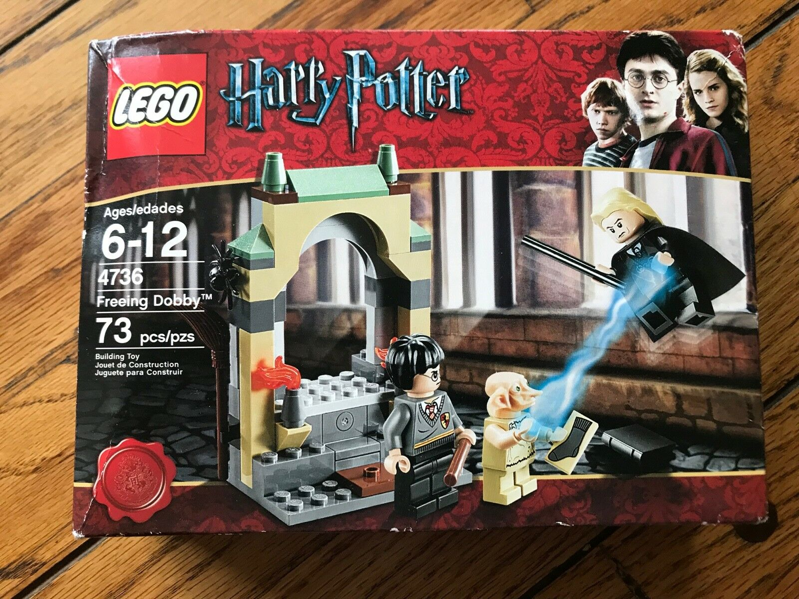 BRAND NEW LEGO Harry Potter Freeing Dobby 4736 Box has creases