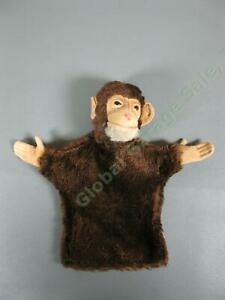 Vintage-1950s-Steiff-Germany-JOCKO-The-Monkey-Mohair-Hand-Puppet-With-Ear-Button