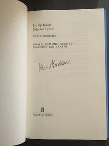 Signed-Lit-Up-Inside-Selected-Lyrics-by-Van-Morrison-Hardback-2014-Autographed