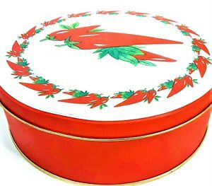 """Red Hot Chili Peppers Decorative Tin Round 7.25"""" Collectible Metal Canister"""