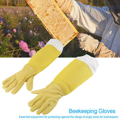 Beekeeper Protective Gloves Faux Goatskin Gloves Anti Bee Beekeeping Equipment