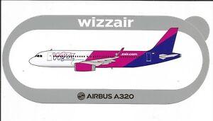 AIRBUS-STICKER-AUTOCOLLANT-A320-WIZZ-AIR-SHARKLETS-NEUF