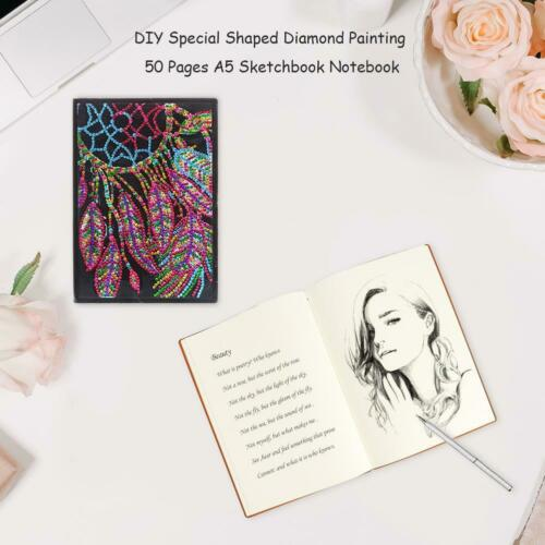 DIY Dreamcatcher Special Shaped Diamond Painting 50 Pages A5 Sketchbook @