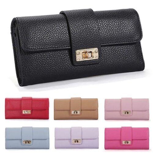 Women Bifold Leather Wallet Clutch Phone Card Holders Purse Lady Long Handbag