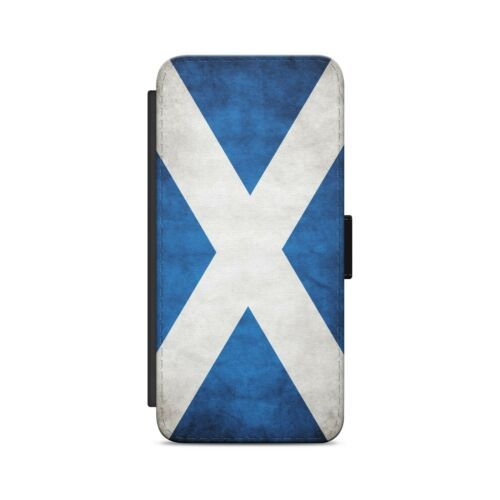 Bandera de Escocia escocés de Cuero Abatible Billetera Teléfono Estuche Para iPhone Samsung Huawei