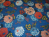 "LIBERTY OF LONDON TANA LAWN FABRIC ""Meandering Chrysanthemums"" 2 METRES BLUE"