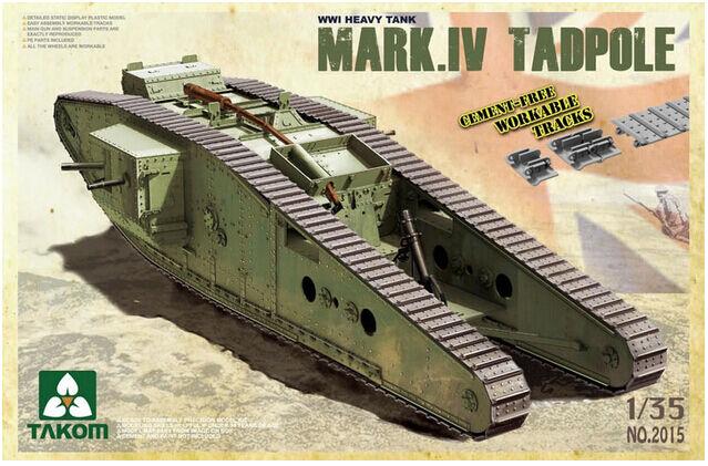 ◆ Takom 2015 1 35 WWI British Heavy Battle Tank Mark.IV  Tadpole