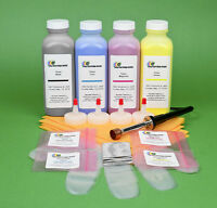 Hp Cb400a Cb401a Cb402a Cb403a 4-color Toner Refill W/ Hole-making Tool & Chips