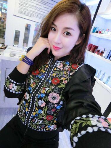 corte giacca giacca stile Nuove breve chi ricamo F primavera donne coreano floreale TRqx5O