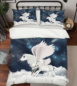 3D-White-Unicorn-ZHUA1623-Bed-Pillowcases-Quilt-Duvet-Cover-Set-Queen-King-Zoe