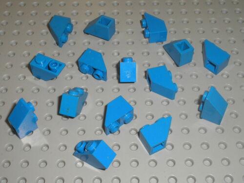 Set 6985 10177 733 8018 4425 4483 6363 ... 15 x LEGO blue Slope Brick ref 3665