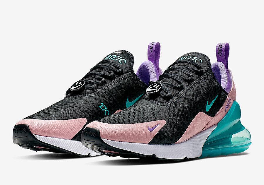 Nike Air Max 270 Haben einen Tag Schwarz Hyper Jade Gebleicht Koralle CI2309-001