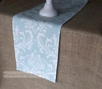 Light Powder Blue Table Runner Floral Table Centerpiece Dining Room Home Decor