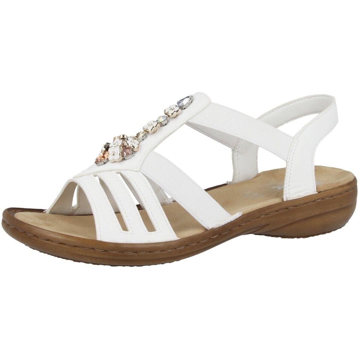 Rieker Alabama damen Schuhe Damen Antistress Sandalen Sandaletten Weiß 60855-80