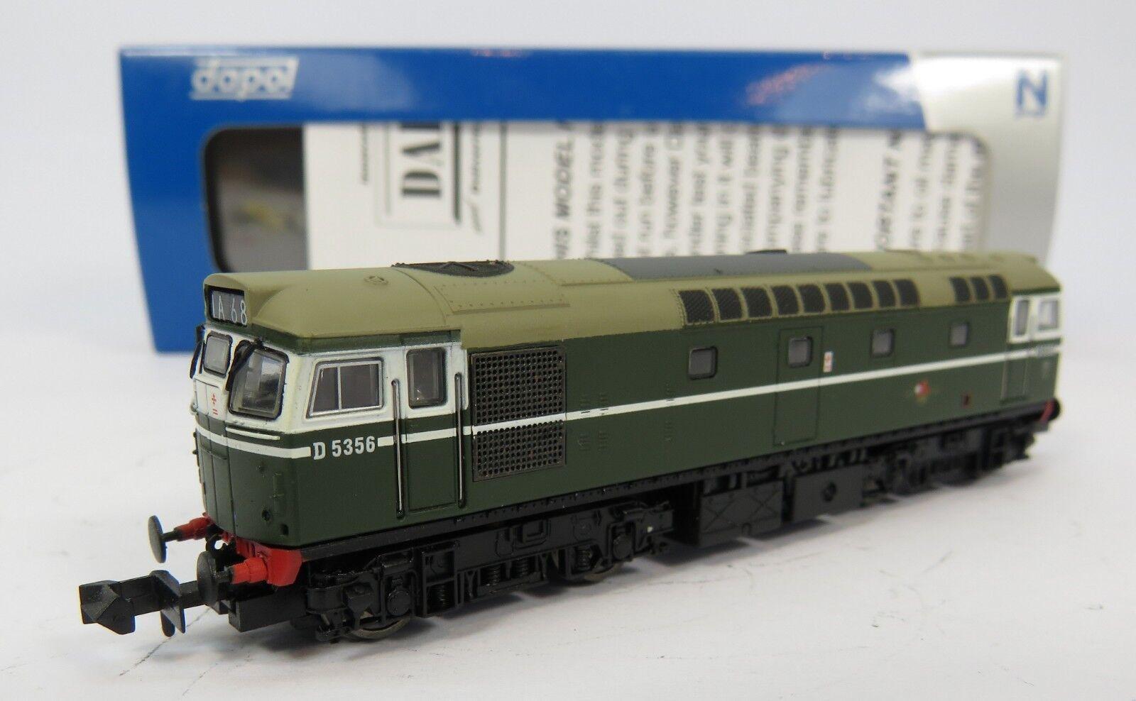 N Gauge Dapol ND-205A Class 27 D5356 BR Green Loco