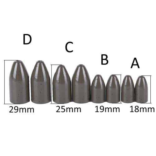 2Pcs Green Tungsten Bullet Flipping Weight Fishing Sinker Lure Fishing Access Nt