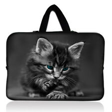 """Cat 12"""" Laptop Sleeve Case Handle Bag For 11.6"""" Dell, Samsung, HP Chromebook PC"""