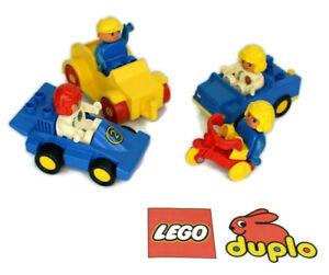 VINTAGE-LEGO-DUPLO-CARS-VEICOLI-FIGURE-PERSONAGGI-Bundle