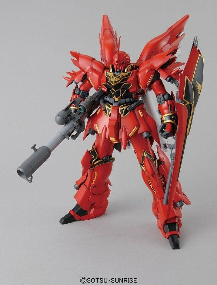 MSN-06S Sinanju Anime color GUNPLA MG Master Grade Gundam Unicorn 1 100 BANDAI