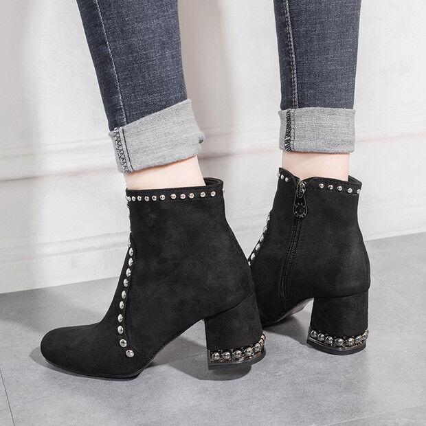 Bottes basses chaussures rangers 6.5 cm noir élégant comme cuir 9597