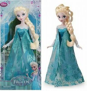Disney-Store-Classic-Collection-Queen-Elsa-Doll-12-in-Sparkle-Dress-Frozen-NEW