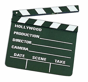 8-034-SMALL-HOLLYWOOD-MOVIE-CLAPPER-BOARD-Director-Camera-Prop-Wood-Film-Slate-TV