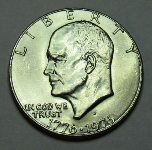 1976 D Type 1 Eisenhower Dollar in BU condition