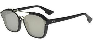 c049a6806f New Christian Dior ABSTRACT 807 0T black silver mirror Sunglasses ...
