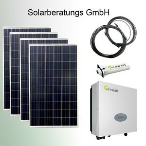 solaranlage 1060 watt eigenverbrauch growatt solarmodul solar wechselrichter. Black Bedroom Furniture Sets. Home Design Ideas
