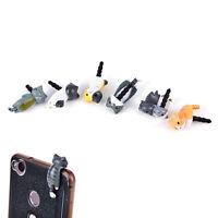 2x Cat 3.5mm Anti Dust Earphone Jack Plug Stopper Cap For Mobile phone Iphone ES