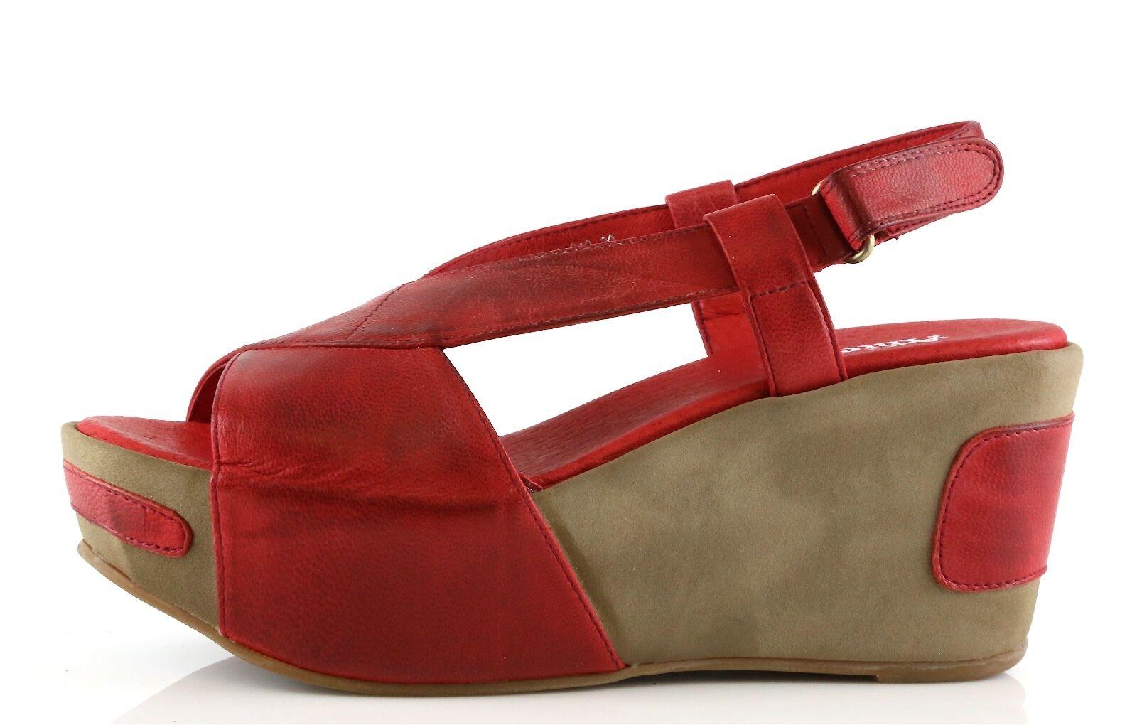 Antílope Mujer Sandalias de cuña de cuero rojo 3253 3253 3253 Talla 37  nuevo  de la UE  marca famosa