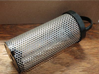 """STRAINER BASKET GROCO 34 BS5 SS76C FITS ARG1250 LENGTH 7.875/"""" SCREEN 304S//S ARG"""